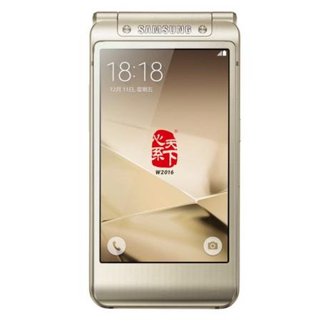 Samsung/三星 SM-W2016电信4G双模商务翻盖手机尊贵金
